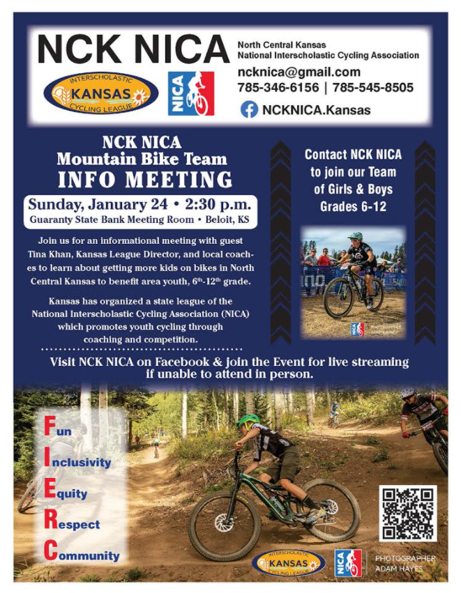 Attention: 6th-12th graders!   NCK Mountain Bike Team Info